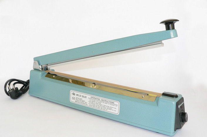 Dispozitiv pentru lipit și sigilat pungi din polietilenă 200x5mm - cu tăiere