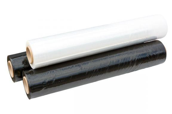 Folie extensibilă pentru paletizat (Stretch), Neagră, 0,5x160m, 32µ, Set 6 role