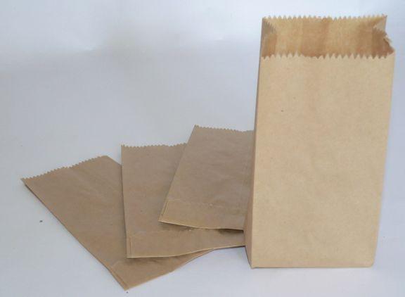 """Pungi hârtie """"1 kilogram"""", 130x30x280mm, Set 10 kg (aprox. 1200 buc)"""