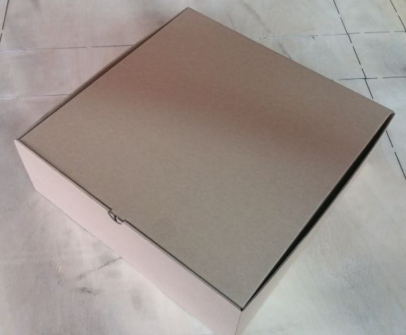 Cutie de carton cu autoformare, capac cu protectie