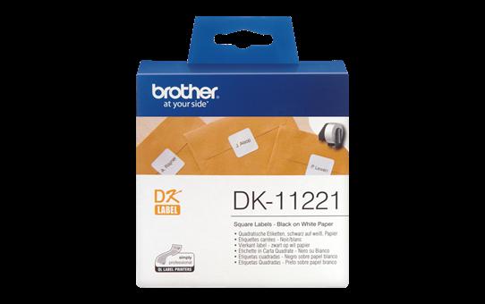 Etichete autoadezive Brother DK11221, 22mm x 23mm, 1000 buc, Hârtie termică albă