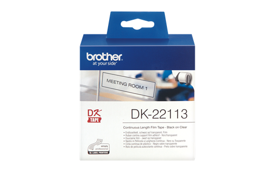Etichete autoadezive Brother DK22113, 62mm x 15,24m, Film termic transparent