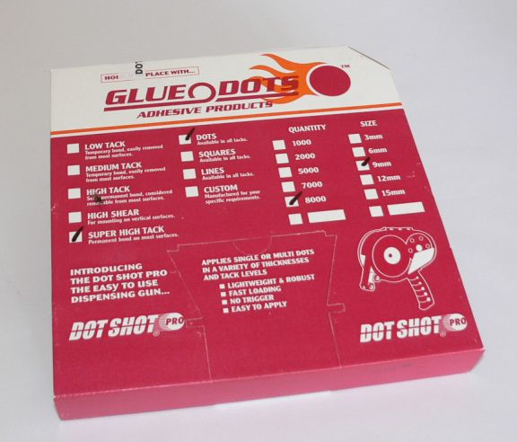Glue Dots, Permanent, Set 8.000 buc.