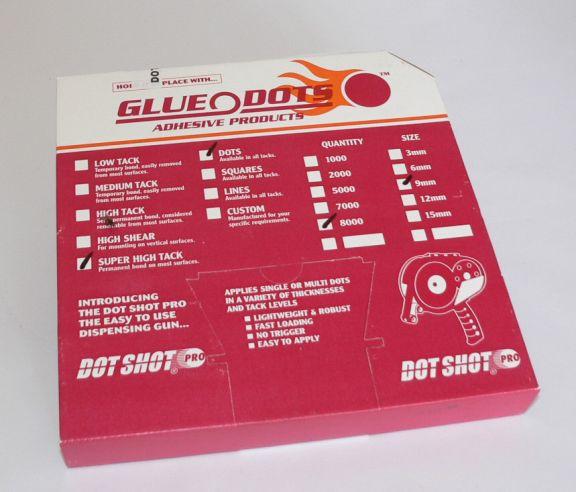 Glue Dots, Permanent, Set 8.000 buc.