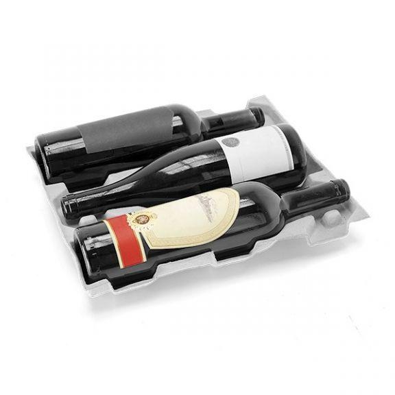 Separatoar ECO pentru 3 sticle din hârtie reciclata, Set 200 buc