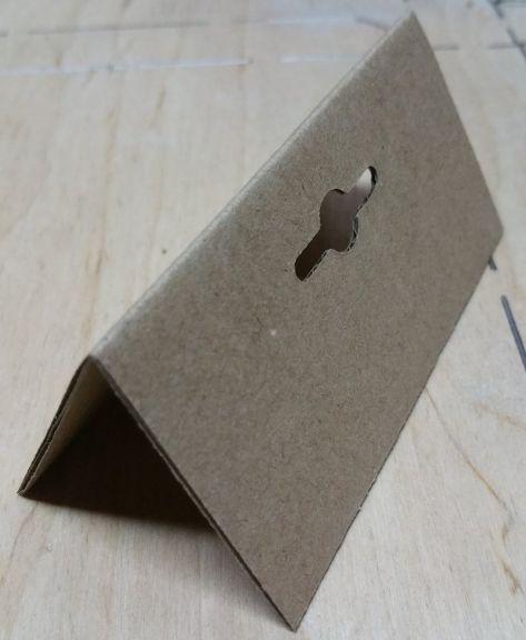 Suport (etichetă, agățătoare) din carton pentru expunere pe raft, 100x50mm, Set 1000 buc.