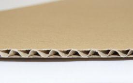 Carton ondulat CO3 dublu albit ondulă E
